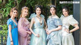溫慶珠與迪士尼合作,推出全新公主品牌形象,以「Inspired by Princess」為概念,設計了4套訂製禮服。(圖/品牌提供)