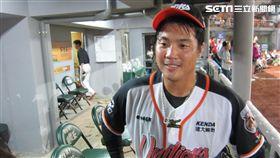 ▲統一獅外野手朱元勤生涯首次獲選單場MVP。(圖/記者蕭保祥攝)