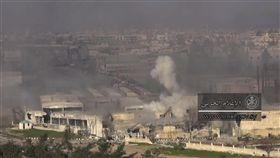 敘利亞,俄羅斯,俄國,人權瞭望台組織,Syrian Observatory for Human Rights,空襲,蓋達組織,反抗軍聯盟 (圖/美聯社/達志影像)