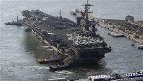 美軍,朝鮮半島,威嚇北韓,航母,打擊群,北韓,飛彈試射,核武, ▲卡爾文森號(圖/美聯社/達志影像)