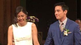 ▲蔣友青與女友Maggie於昨日在君悅酒店舉辦婚宴。(圖/翻攝自Ta Chun Kao臉書)