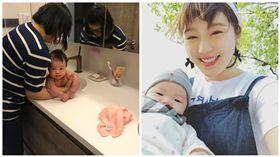 陳泱瑾餵母乳 兒「炸屎」讓她超崩潰 圖/翻攝自陳泱瑾臉書