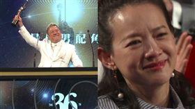 曾寶儀在台下感動大哭(圖/翻攝自《環球網上直播》)