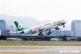 長榮航空,夢想機,彩繪機,Hello Kitty, 三麗鷗。(圖/長榮提供)