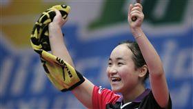 ▲日本隊晉級亞洲桌球錦標賽女子團體冠軍戰。(圖/美聯社/達志影像)