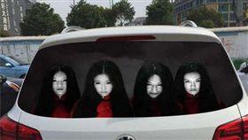 網友對於車貼為之驚艷,又怕又愛問哪裡買(圖/翻攝爆料公社)