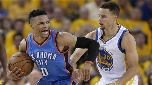 Russell Westbrook,Stephen Curry(ap)