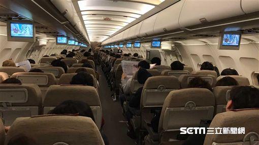 機艙,單走道客機,韓亞航空。(圖/記者簡佑庭攝)