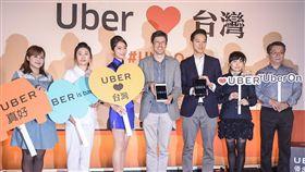 Uber13日宣布重回台灣市場,亞太區總經理Mike brown,台灣區總經理顧立楷 圖/記者林敬旻攝