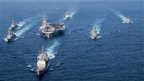 金正恩,美國,北韓,卡爾文森號航母,飛彈,核武 圖/美聯社/達志影像