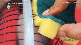 海綿。 (圖/翻攝自ThaiTrick臉書)