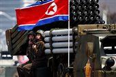 北韓太陽節大閱兵。(圖/路透社/達志影像)