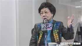 前副總統呂秀蓮17日接受POP radio專訪 圖/記者林敬旻攝