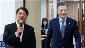 南韓總統候選人文在寅、安哲秀/臉書