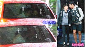 接拍台版《太陽的後裔》女主角的袁艾菲,與一身運動勁裝的男子同上健身房,臨下車前兩人在車上就激情熱身。