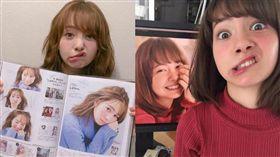 ▲柴田彩菜是義大利和日本混血有著陽娃娃的臉龐,近期她卻以毫無形象的鬼臉爆紅。(圖/翻攝自shibaobasan推特)