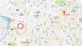 台南海安路、中正路口車禍(圖/翻攝自Google Map)
