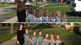 美國,男孩,兒子,長髮,捐髮(圖/翻攝自Phoebe LadyStanley Kannisto臉書)