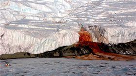 血瀑布,鹽湖,水,鐵,氧化,iron,Taylor Glacier,Blood Falls,亞特蘭提斯,血水 圖/翻攝自維基百科https://goo.gl/fMkj2W