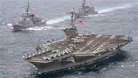 美國海軍卡爾文森號(USS Carl Vinson)航空母艦打擊群_美聯社/達志影像