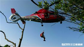 平溪,登山,山坡,遊客,空勤總隊,直升機 圖/翻攝畫面