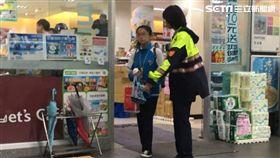 新北市推「幸福保衛站」政策,警方請超商提供便當,讓家境不好的女學生果腹。翻攝照片