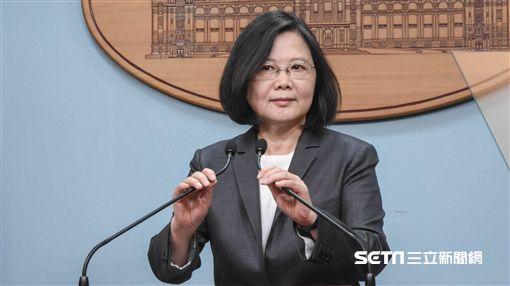 (這張別再用了)總統蔡英文針對年金改革發表談話 圖/記者林敬旻攝