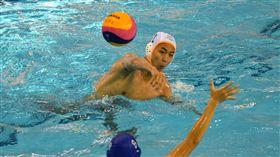 水球測試賽中華隊(白帽)不敵馬來西亞。(圖/世大運提供)