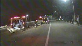 台中少年無照BWS車禍 消防隊提供