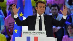 法國,總統候選人,Emmanuel Macron,馬克龍(圖/美聯社/達志影像)