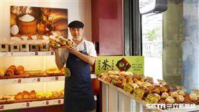 Semeur聖娜烘焙坊,宇治抹茶超軟麵包。(圖/統一集團提供)