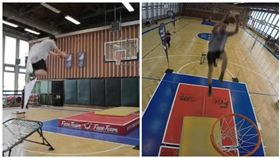 籃球,灌籃(圖/翻攝自秒拍)