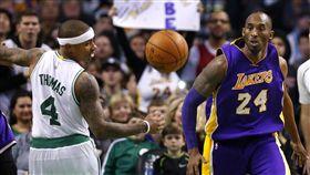 Isaiah Thomas與Kobe Bryant(ap)
