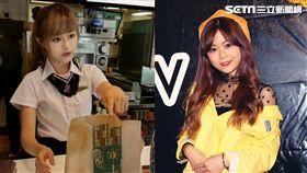 兩年前爆紅「麥當勞正妹」甜美的徐薇涵,現在(右)外型更加自然可愛。(組合圖/翻攝自網路/龐文宏攝影)