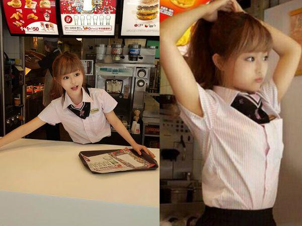 兩年前徐薇涵以「台灣麥當勞正妹」登上國際媒體版面。(圖/翻攝自網路)