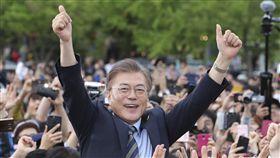 大選,投票,青瓦台,南韓,文在寅(圖/美聯社/達志影像)