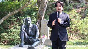八田與一銅像修復 賴清德:跟蔣介石銅像意義截然不同(南市府提供)