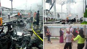 泰國北大年府購物商場Big C一日兩爆炸(圖/翻攝自推特)