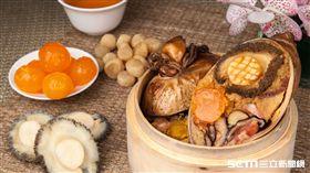端午節,粽子,鮑魚。(圖/台北萬豪酒店提供)