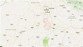 印度拉吉斯坦省珀勒德布爾(Bharatpur)(圖/翻攝自google map)