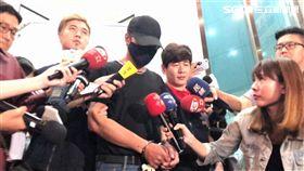 性侵假釋犯蕭國昌遭中山分局偵查隊逮捕,訊後解送台北地檢署歸案(楊忠翰攝)
