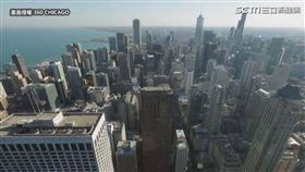 傾斜30度角欣賞94樓高空美景。