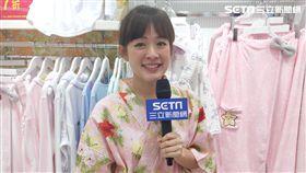 林彥君穿著甚平(和服便服)接受三立新聞網專訪。(圖/三立)