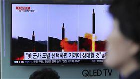 北韓試射飛彈_美聯社/達志影像