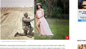 軍人,服役,戰場,懷孕,夫妻,爸媽,攝影師,合照,感動 http://www.redbookmag.com/body/pregnancy-fertility/news/a50345/deployed-husband-maternity-shoot/