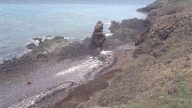 員貝嶼被破壞(圖/翻攝自海洋公民基金會)