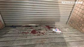 林女墜落一樓地下室停車場出入口當場失去生命跡象。(圖/翻攝畫面)