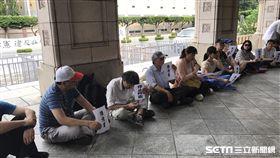 反同婚陳情者,司法院門前。記者潘千詩攝影