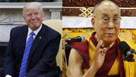 美國總統川普、達賴喇嘛(合成圖/路透社/達志影像)