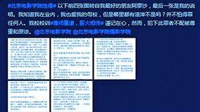 新新聞1577期,前北京電影學院攝影女學生「阿廖沙」網上長文自曝被性侵,讓學校陷風暴。翻攝自微博